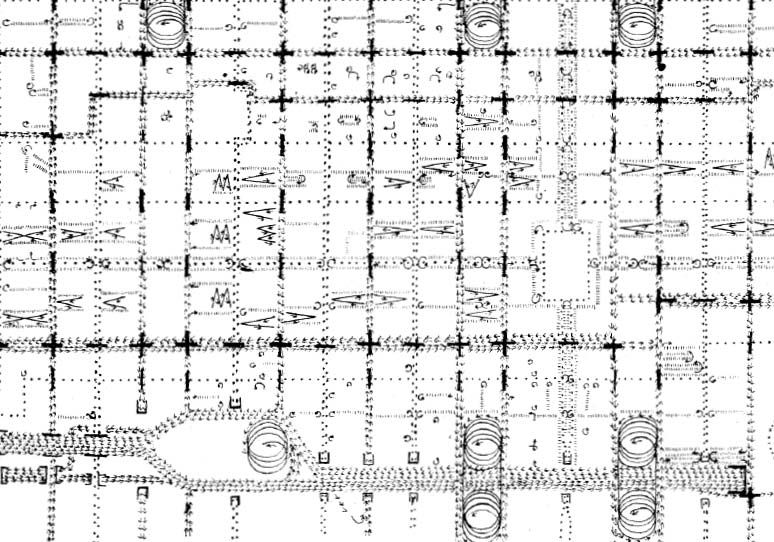 Phila Traffic Map.Traffic Study Louis Kahn S Diagram Of Existing Traffic Movement For