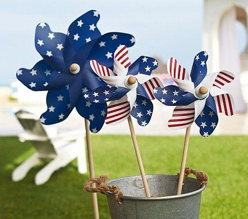 4th of July Pinwheels #potterybarnkids