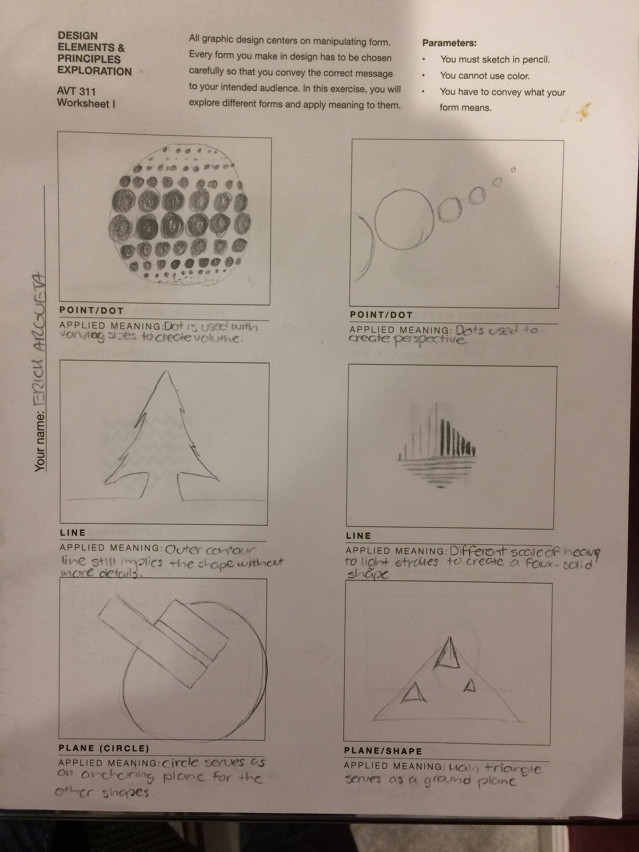 Worksheet Side 1