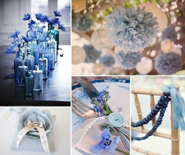 Decorazioni Matrimonio Azzurro : Wedding by color matrimonio in blu wedding idee matrimonio