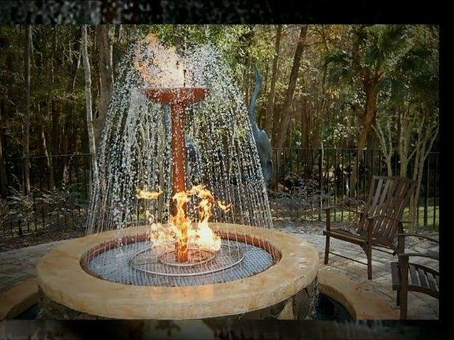 Outdoor fire pits with water fire pit and outdoor water for Fire and water features