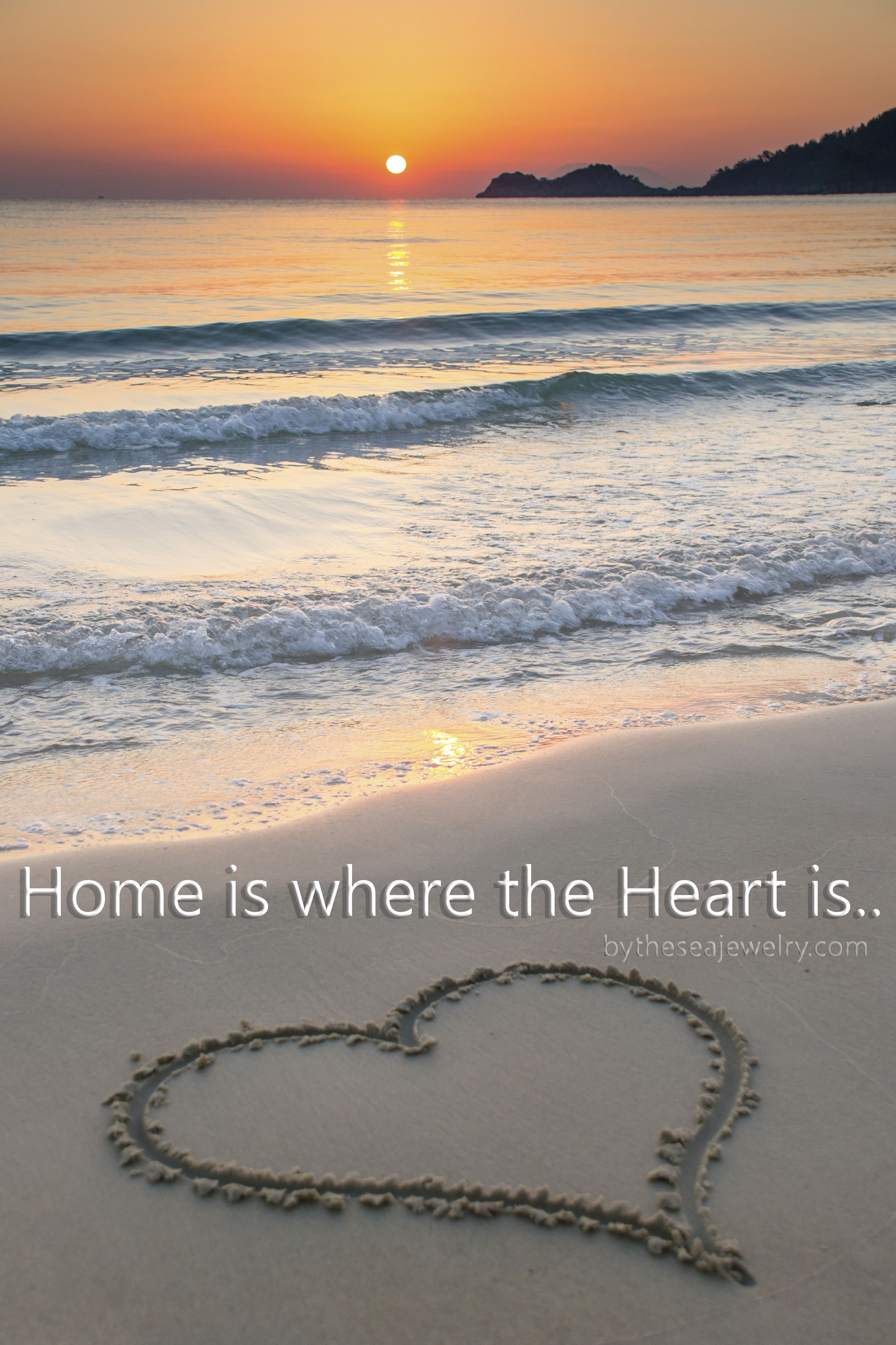 Home Is Where The Heart Is Mine Is At The Beach Beach Beach Quotes Beach Wallpaper