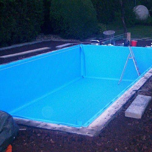 Pool selber bauen Schritt für Schritt Garten pool