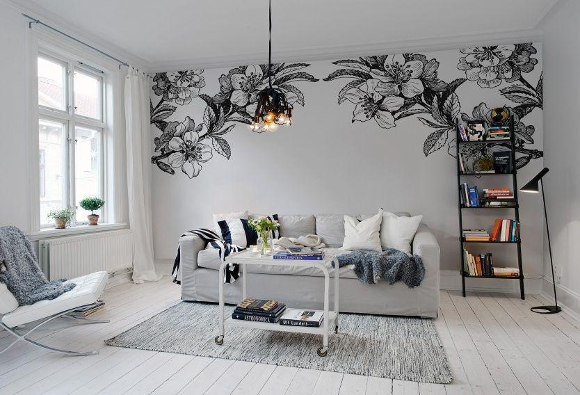 tendance les fleurs g antes dans la d co papier peint. Black Bedroom Furniture Sets. Home Design Ideas