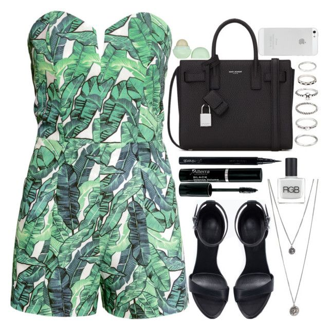 """""""08.26.15"""" by lea-maire ❤ liked on Polyvore featuring H&M, Yves Saint Laurent, Forever 21, Zara, RGB Cosmetics, Eos and Glo Minerals"""