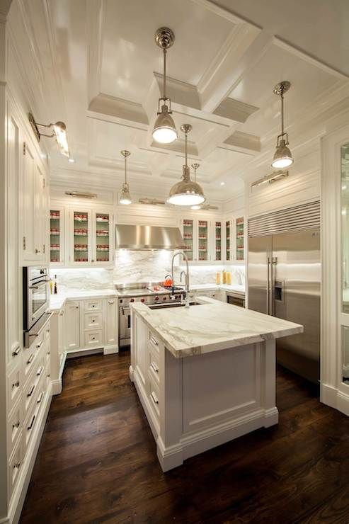 Fabulous Kitchen With Polished Nickel Picture Lights