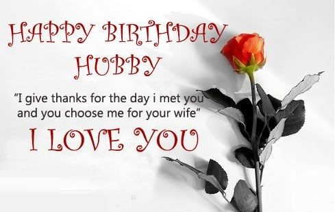 Birthday Wishes Messages For Husband Hubby Birthday Happy