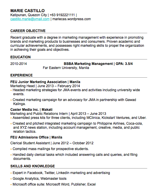 Kalibrr Resume Sample Sample Resume How To Make Resume Work