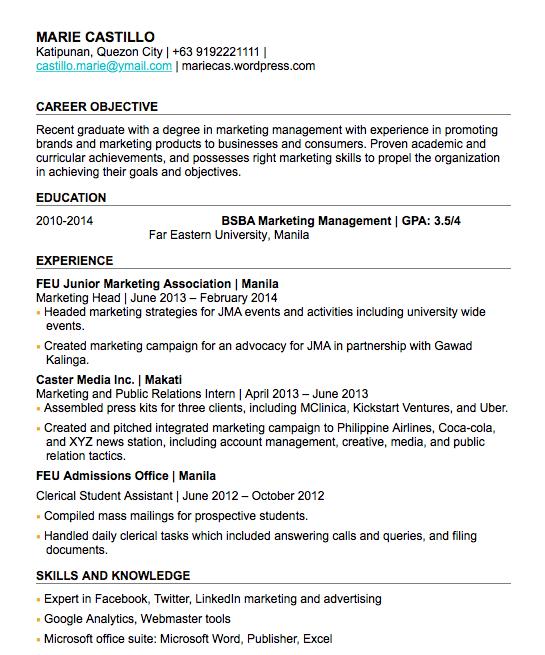 Kalibrr Resume Sample Sample Resume Job Resume Examples Resume Examples