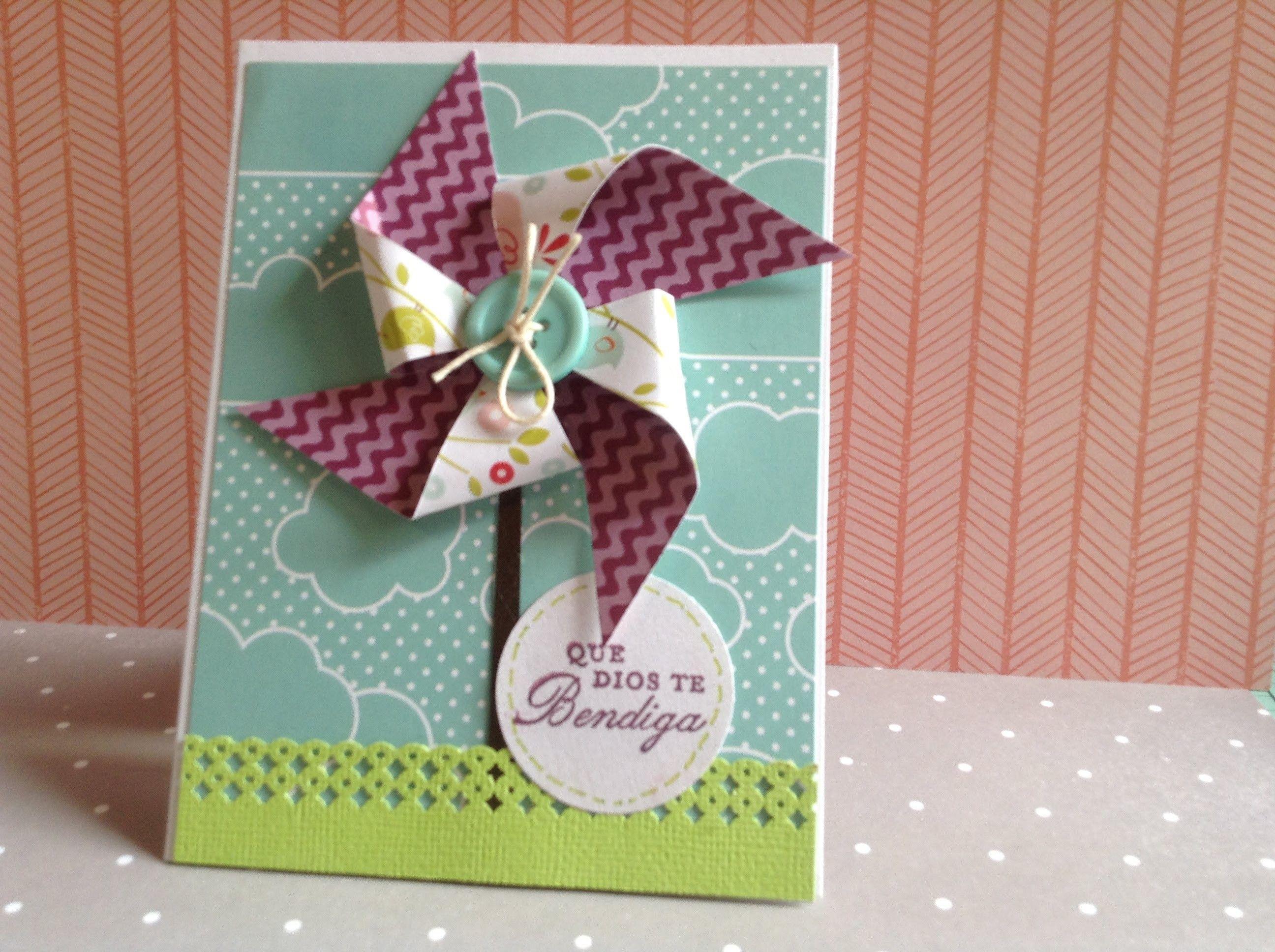 Pinwheel Card  How To Make Pinwheels