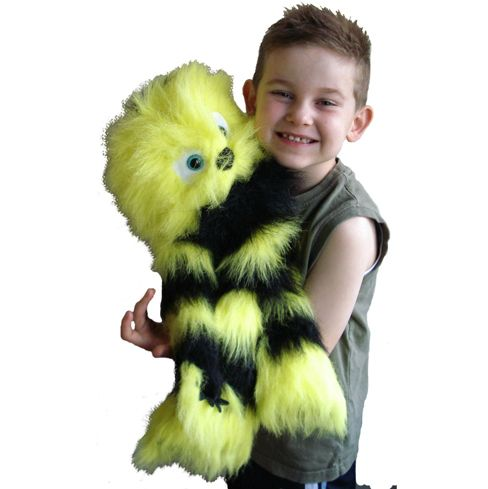 PuppetU.com - Yellow and Black Monster Full Body Puppet, $24.99 (http://store.puppetu.com/products/Yellow-and-Black-Monster-Full-Body-Puppet.html)