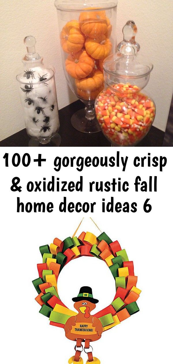 100+ gorgeously crisp & oxidized rustic fall home decor ideas 6 100+ Gorgeously Crisp & Oxidized Rustic Fall Home decor ideas - Hike n Dip Loopy Turkey Wreath Craft Kit. This 12 1/2 paper turkey makes a wonderful Thanksgiving decoration for any classroom or home! All craft kit pieces are ... The easy DIY wreath tutorial you have to see! Made with a thrifted picture frame, this cheap craft project makes for a gorgeous seasonal wreath. Adapt it for any theme or holiday!