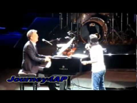 Arnel With David Foster On Piano Surprise Visit By Peter Cetera Of Chicago Song Hard Habit To Break The Fosters Music Concert Songs