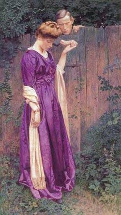 Lexden Lewis Pocock (English, 1850-1919), The Closed Way, watercolor