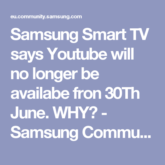 no picture on youtube on samsung tv