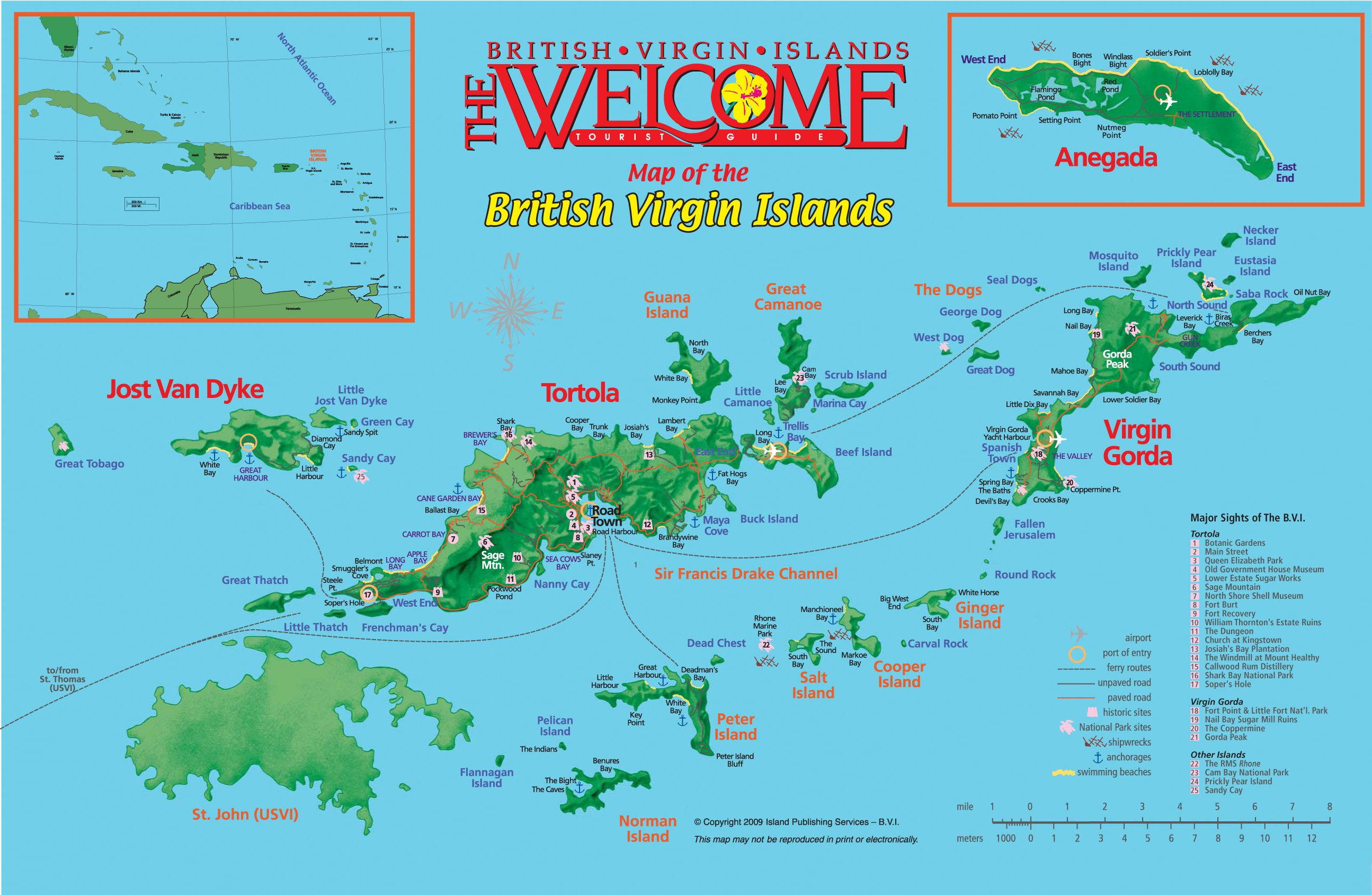Map Of The British Virgin Islands With Images