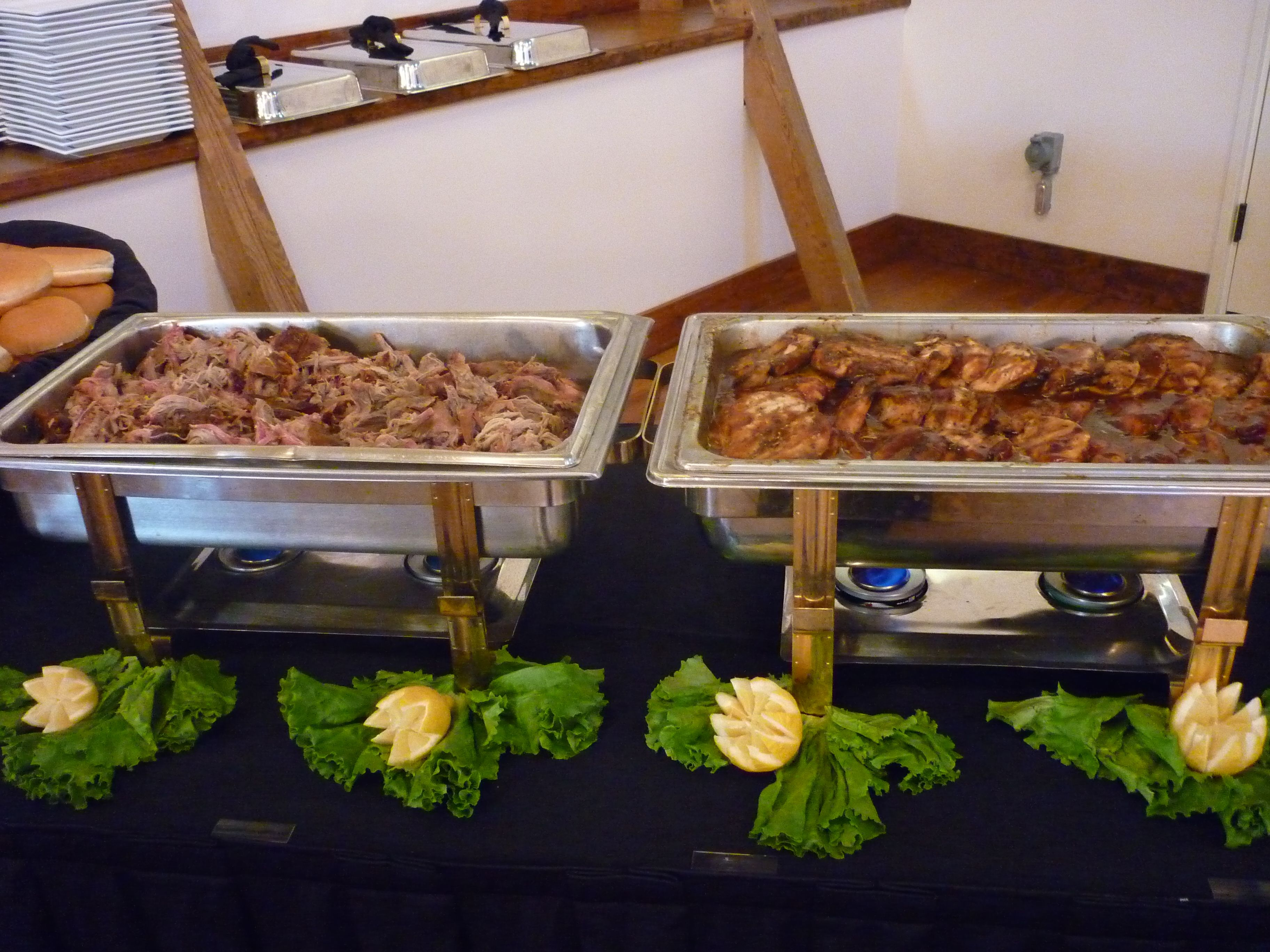 Bbq Chicken Pulled Pork At A Wedding Catering Wedding Food Food Food And Drink