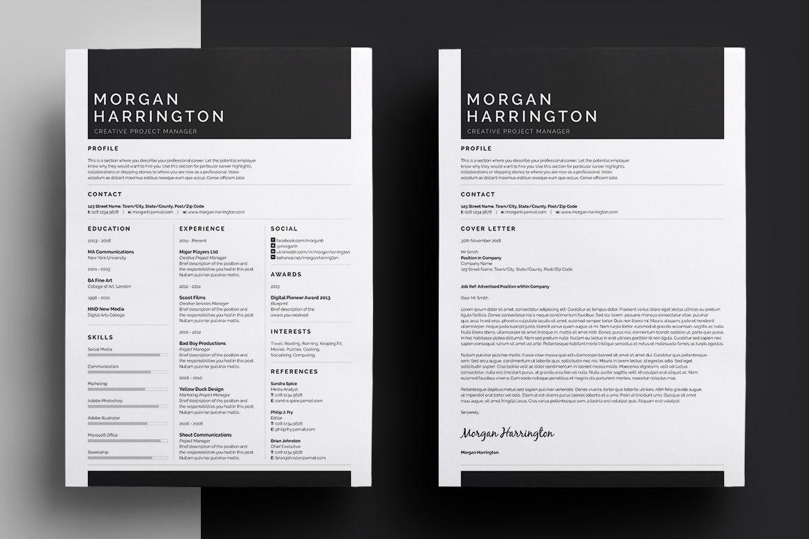 Resume/CV - \'Morgan\' on Behance | Type For Hire - Resume Design ...