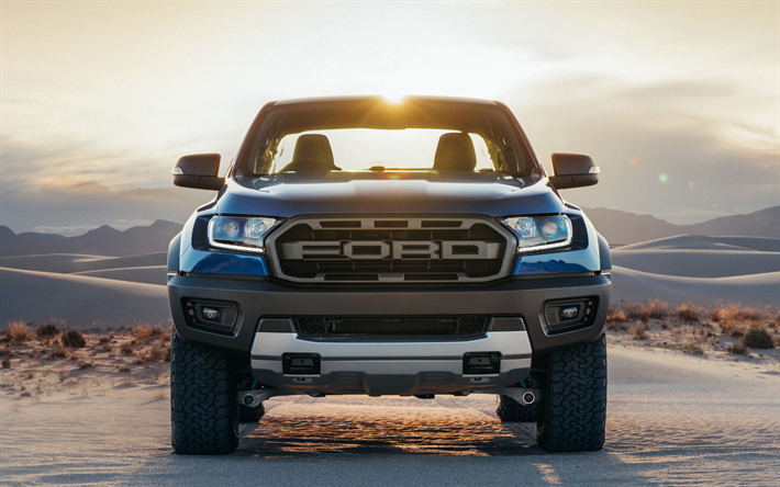 Download Wallpapers Ford Ranger Raptor 2018 Cars Offroad Front