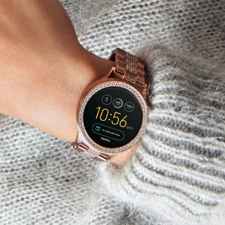 Gen 3 Smartwatch Venture Rose Gold Tone Stainless Steel Smart Watch Android Wear Fossil