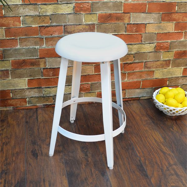 Hand-forged Craton Contemporary Metal Stool - Overstock™ Shopping - Great Deals on Bar Stools