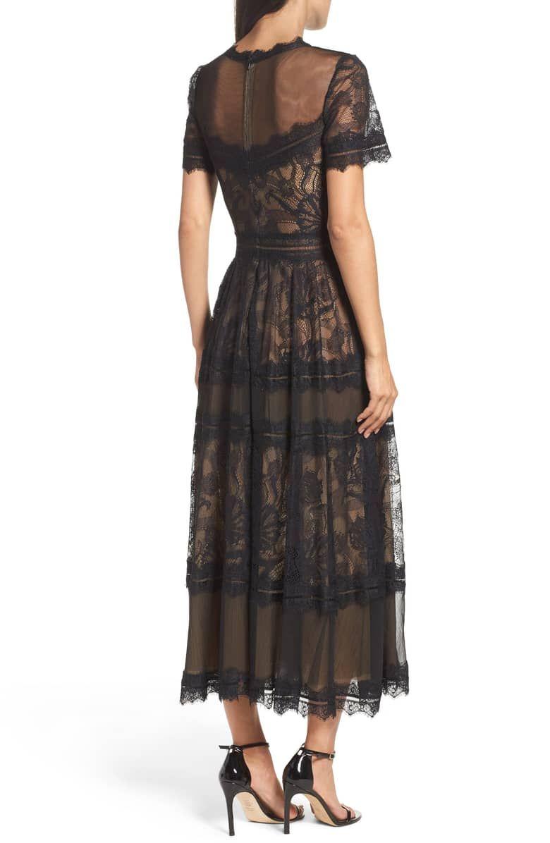 Tadashi Shoji Lace Midi Dress Nordstrom Lace Tea Length Dress Lace Midi Dress Lace Dress [ 1196 x 780 Pixel ]