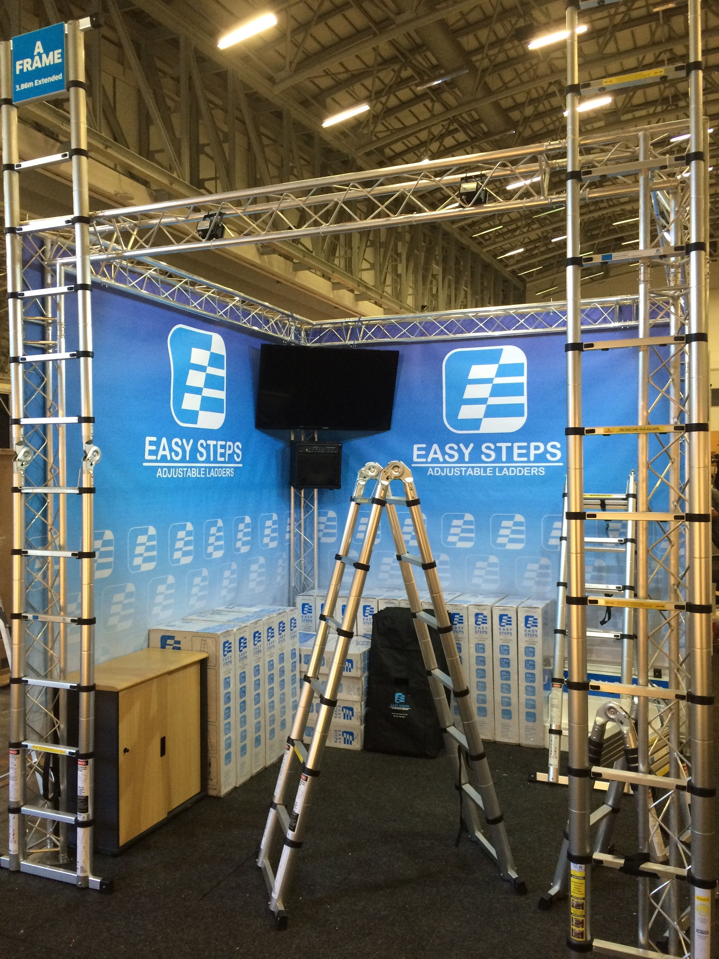 Buildup Day 1 Decorex Cape Town Cticc Adjustable Ladder Ladder Easy