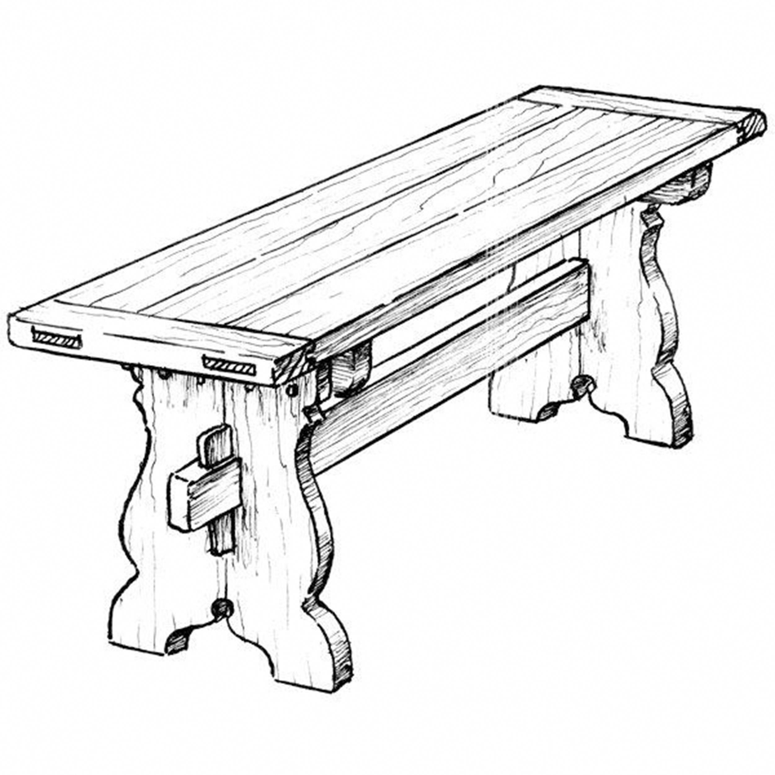 Woodworking Project Paper Plan to Build Trestle Bench #