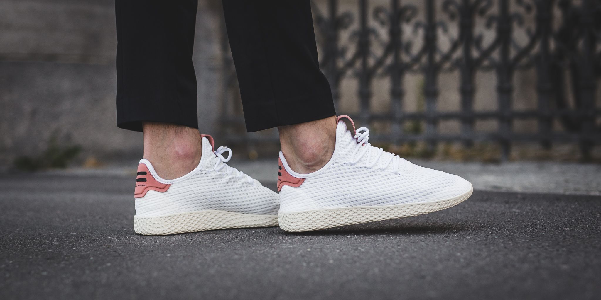 finest selection 7bc38 1d05b ONLINE NOW 🔺Pharrell Williams X Adidas Tennis Hu - White/Raw Pink SHOP  HERE ➡ bit.ly/2wvam0o #adidas #pw #pharrell