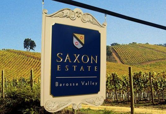 Saxon Estate Winery Sign