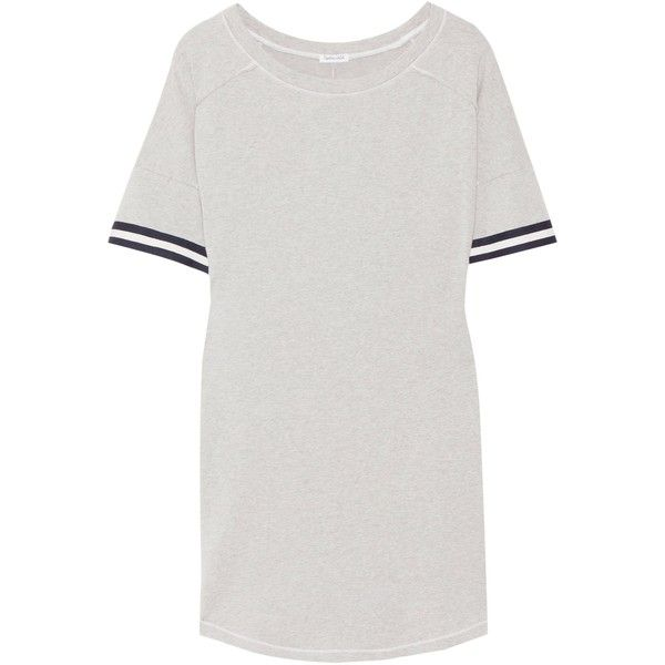 Striped Stretch Cotton And Modal-blend Mini Dress - Pink Splendid QOftR5
