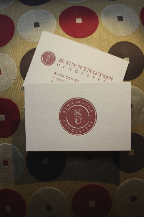 Toby designed a new logo and letterpress business cards for toby designed a new logo and letterpress business cards for kennington upholstery london alan oliver kennington upholstery said about toby i have been colourmoves