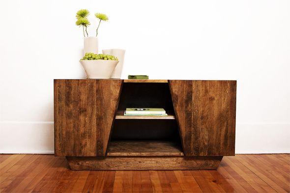 Meuble Tele Rangement Media Par Etienne Carignan Journal Du Design Meubles En Bois Modernes Decoration Meuble Chaise Bois Design