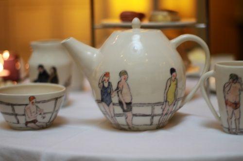 Helen Beard ceramics, swimmers tea service