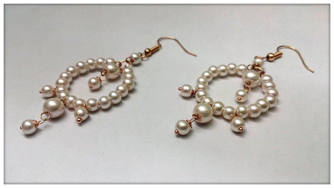 How To Make Pearl Earrings At Home | Earring Making Tutorial ...