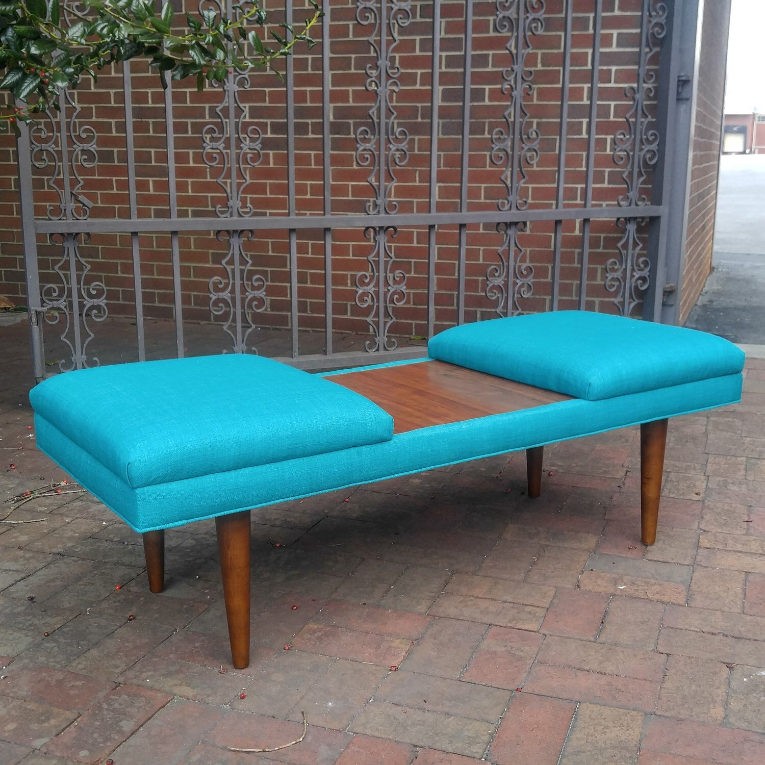 Channel Tufted Retro Teal Ottoman Acacia Frame Design 59 Inc Etsy Upholstered Coffee Tables Retro Coffee Tables Unfinished Wood Furniture [ 1500 x 1500 Pixel ]