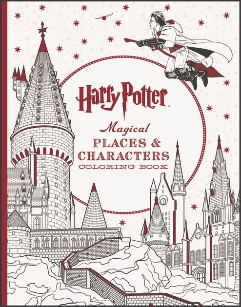 Third Harry Potter Coloring Book Dives Deep Into The Wizarding World Harry Potter Coloring Book Harry Potter Colors Harry Potter Gifts