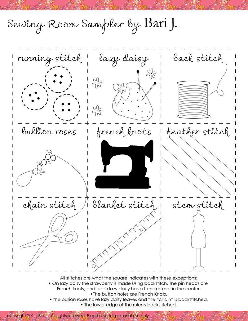 Embroidery sampler. So cute | Embroidery | Pinterest | Bordado ...