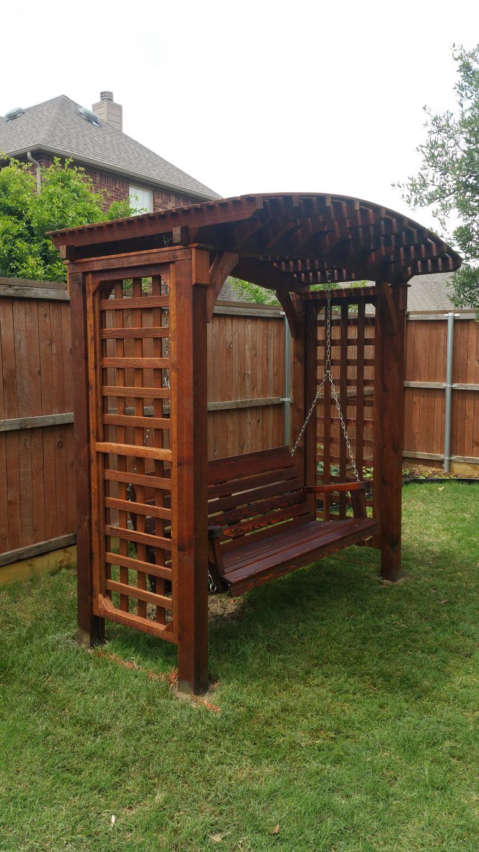 Japanese Pergola Swing Bench| Arbor Swing Bench | Garden Swing Bench ...