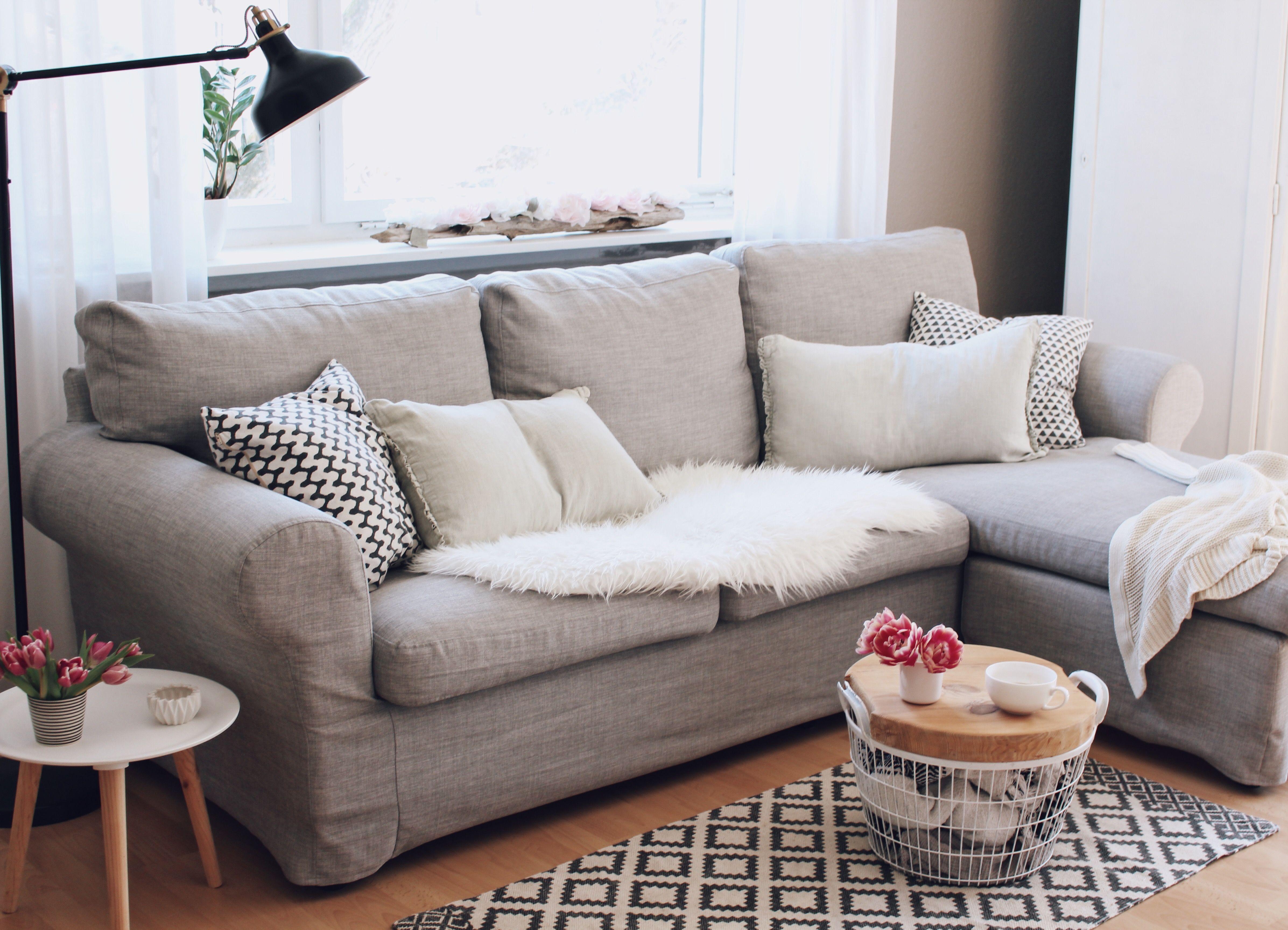 Ikea Ektorp Sectional Sofa In Kino Ash Sofa Slipcovers