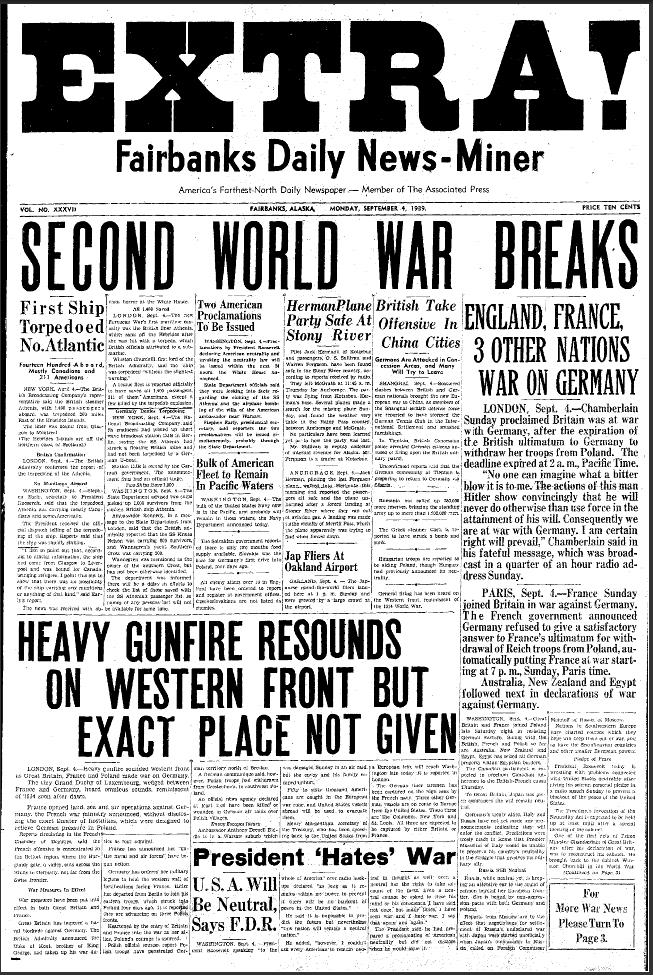 historic newspaper headlines | IMAGE] World War II Newspaper ...