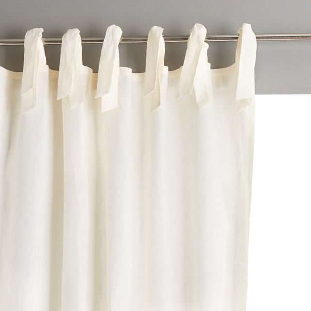 Colin Single Linen Curtain With Tie Top