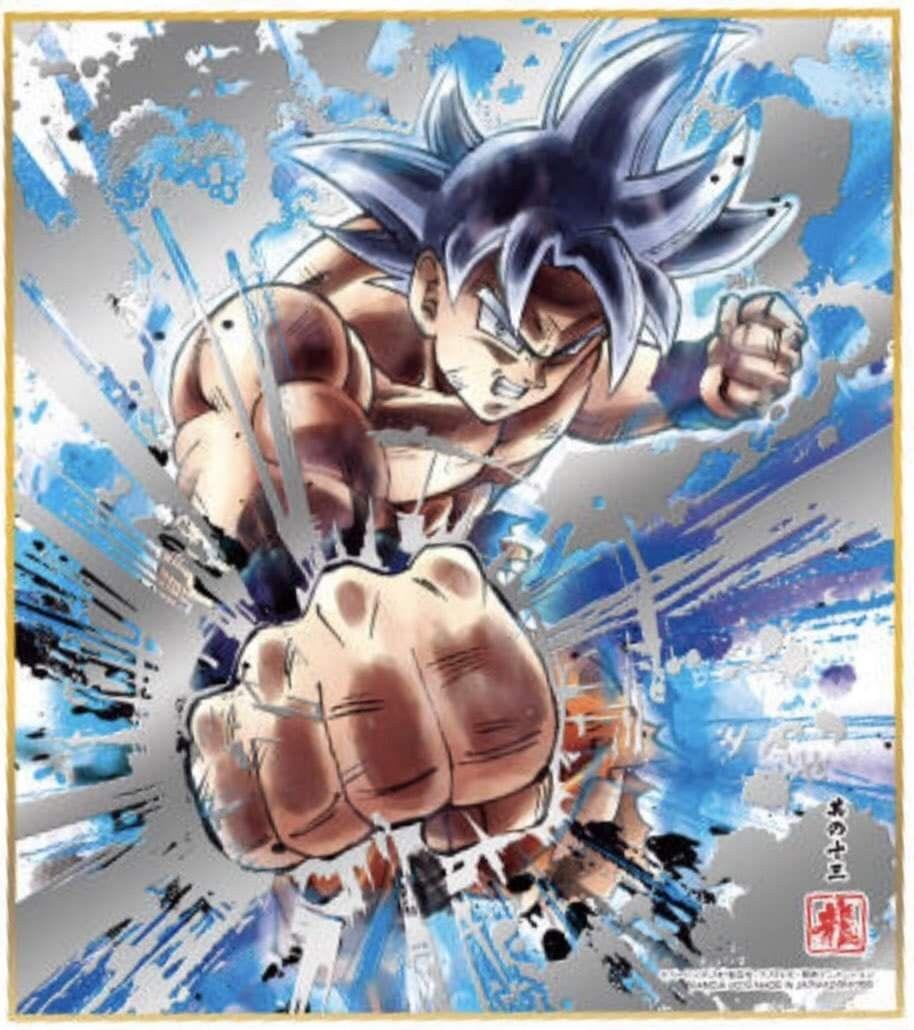 Goku ultra instinto dominado variados dragon ball - Pintura instinto ...