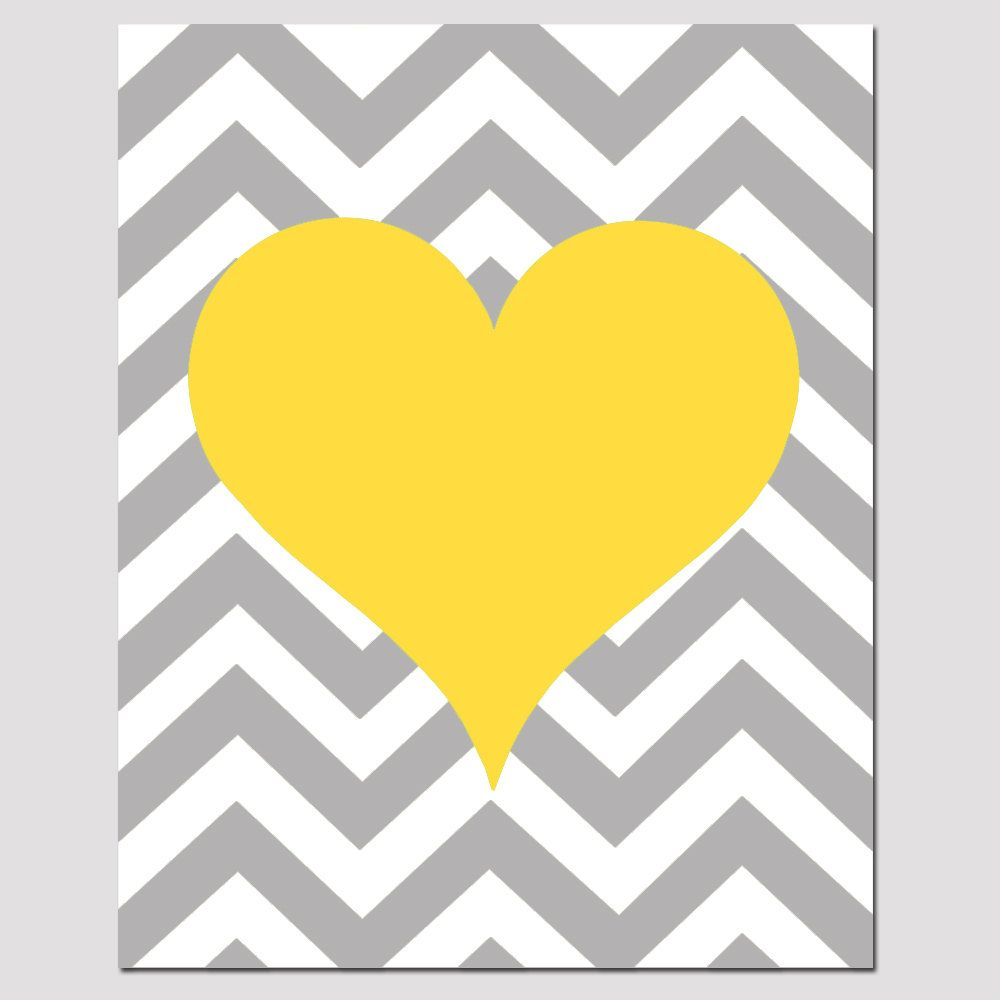 Chevron Heart - 11x14 Print - Kids Wall Art For Nursery or Playroom ...