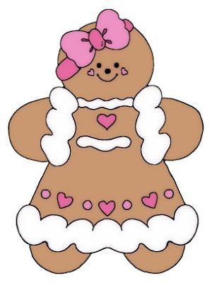 gingerbread girl   There is a lovely christmas freebie on my friend ...