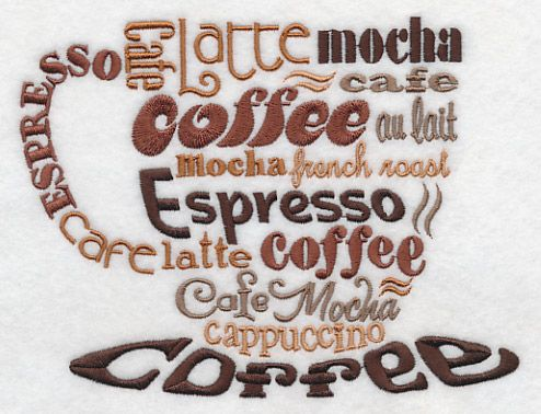 Machine Embroidery Designs At Embroidery Library!   Coffee Lovers Cup