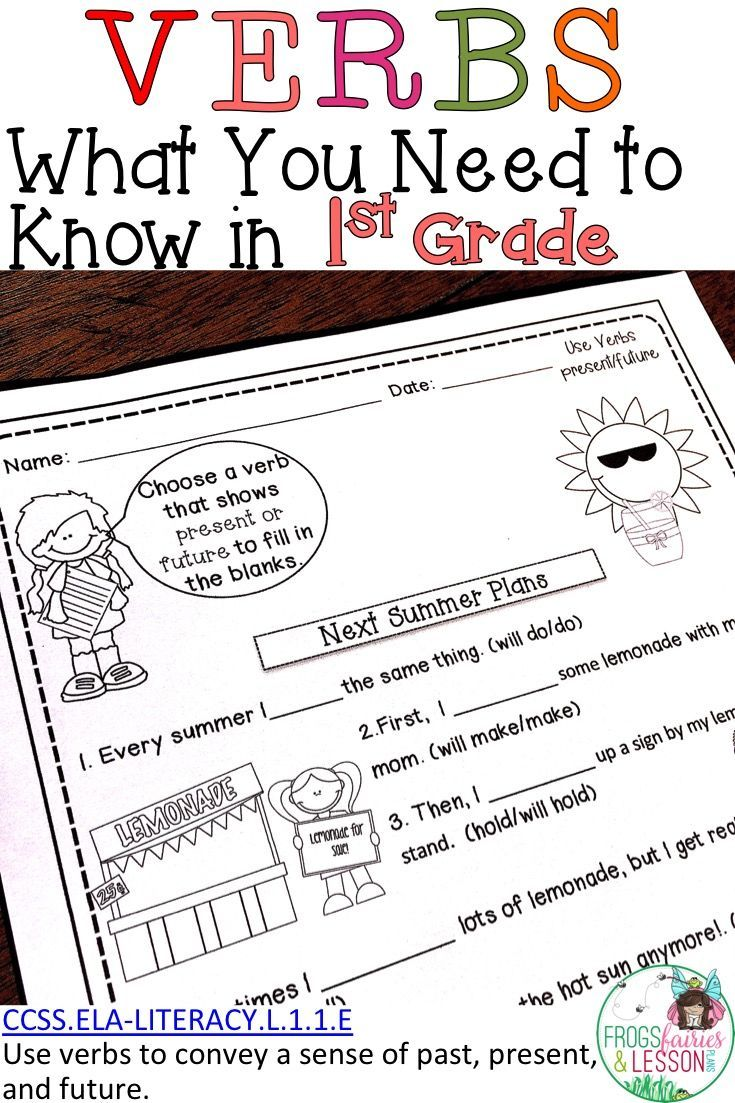 This First Grade Verbs Resource Will Keep Your Students Engaged And Motivated While They Learn About Verbs It Includes Cvc Words Word Families Teaching Verbs [ 1103 x 735 Pixel ]