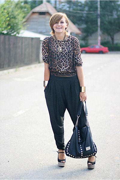 brown-animal-print-new-look-top-black-harem-river-island-pants_400 ...