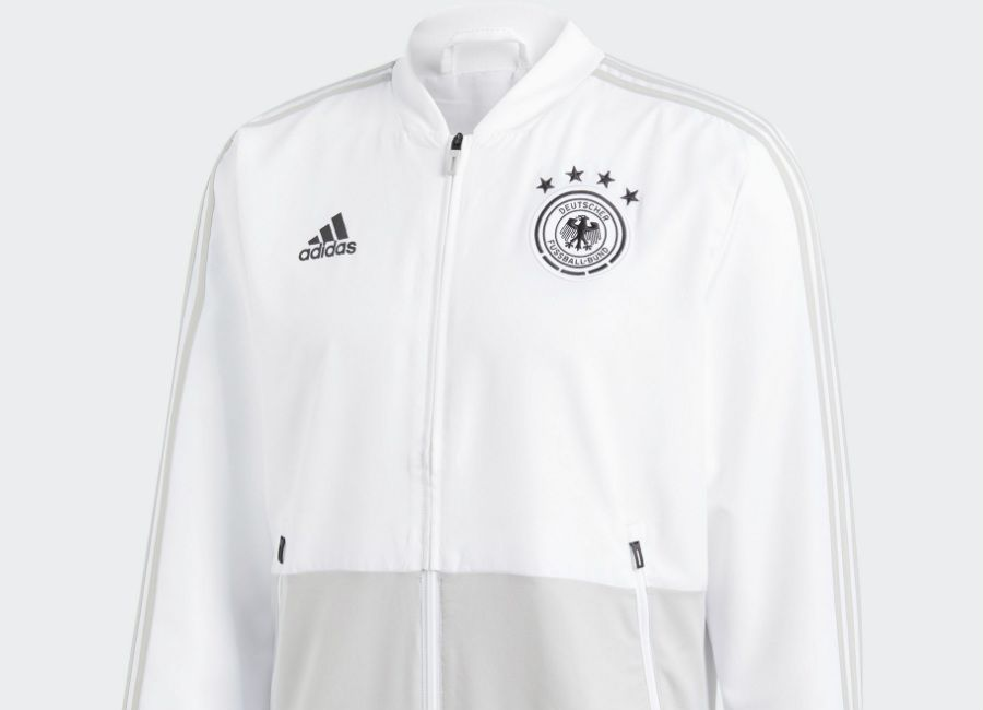 cfef756c65fc  football  soccer  futbol Germany 2018 World Cup Adidas Presentation Jacket  - White   Grey Two