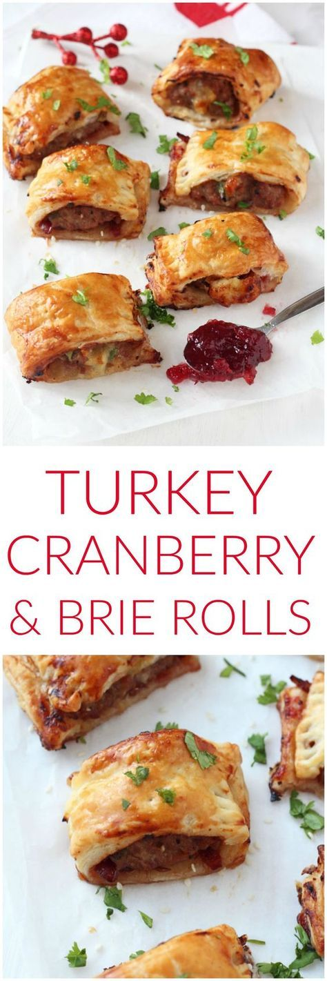 Turkey, Cranberry & Brie Rolls - My Fussy Eater | Easy ...